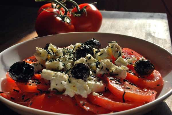salade tomate spiruline